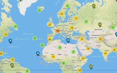 La mappa del patrimonio mondiale UNESCO
