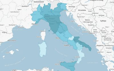 Studenti per docente nelle regioni italiane