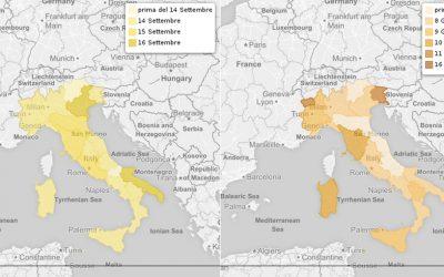 Inizio e fine della scuola nelle regioni italiane