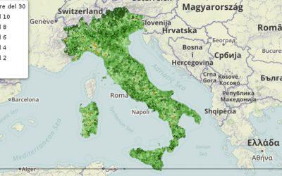 Il tasso di natalità nei Comuni italiani