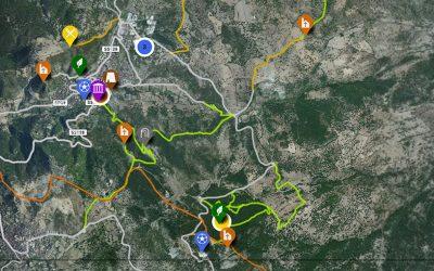La mappa degli itinerari di Orani
