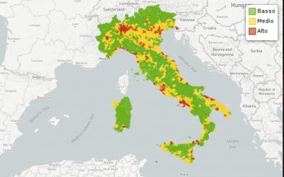 Grado di urbanizzazione nei Comuni Italiani